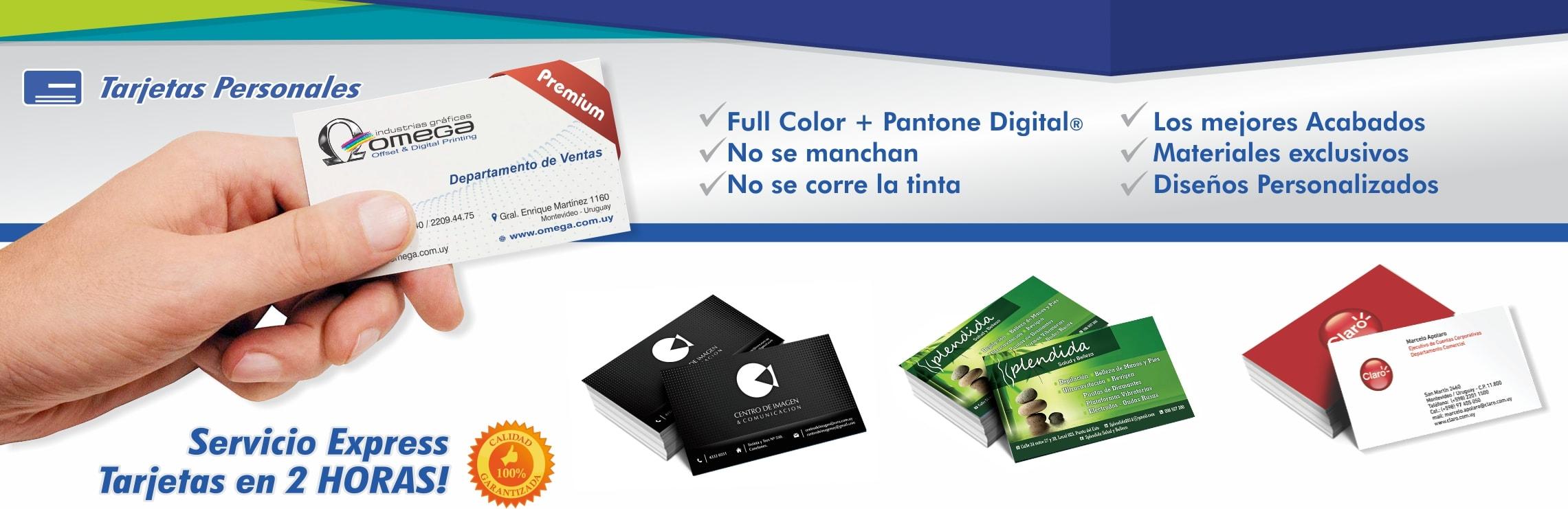 Imprenta Omega Industrias Gráficas Tarjetas Personales